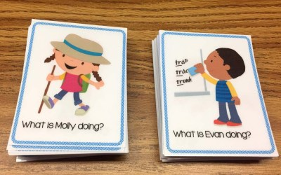 "Free ""What Doing"" Task Cards"