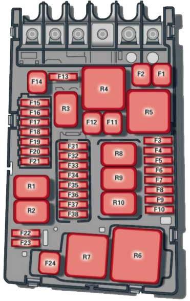 Предохранители и реле Ауди А3 8V
