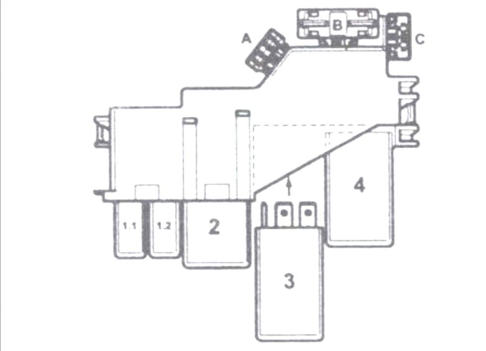 Блок предохранителей и реле №3 Ауди А4 (B6)