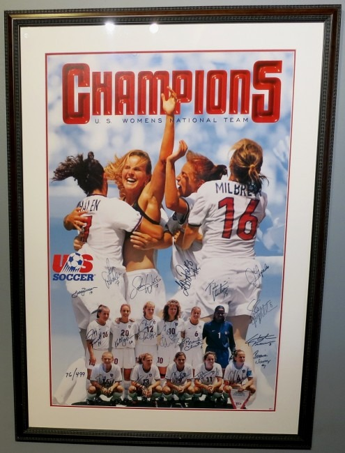1999 usa women s soccer team signed poster
