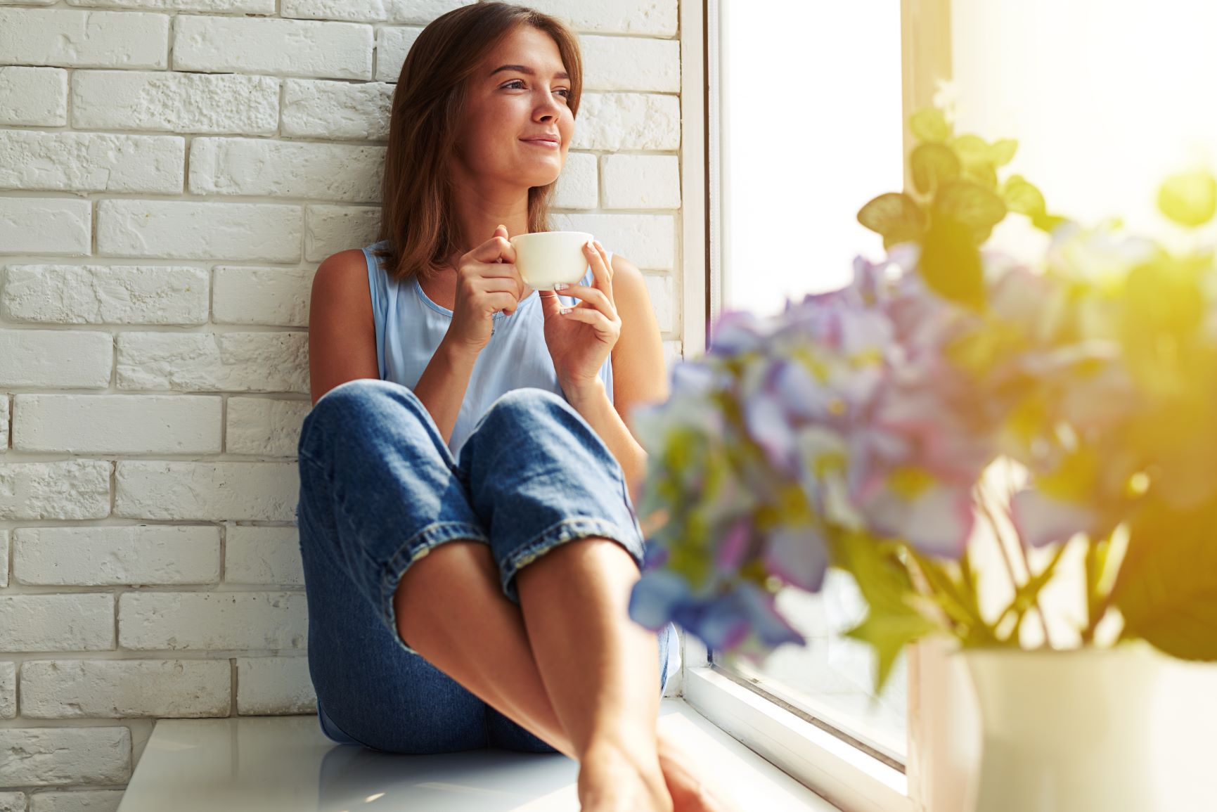 Healthy women in mindfulness