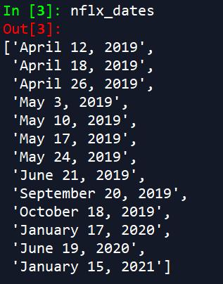 python get options expiration dates