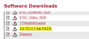 Rockwell Software Downloads 3.0 to 3.1 FUP Files