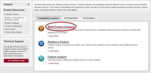 AB.com Multi Product Compare Page