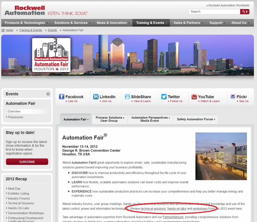 Where to find Automation Fair session downloads