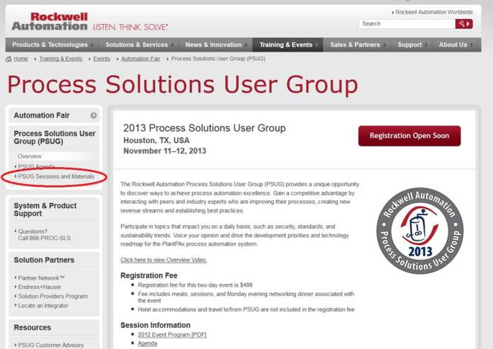 Process Solutions User Group Homepage