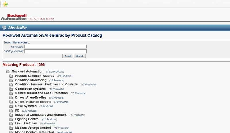 Rockwell Automation and Allen-Bradley (A-B) Online Product