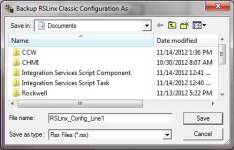 RSLinx Backup and Restore Utility Save