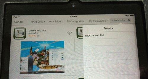 1 Apple iPad App Store - Mocha VNC Lite