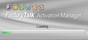 FactoryTalk Activation Splash