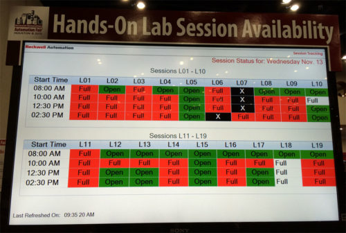 Automation Fair Hands-on labs openings