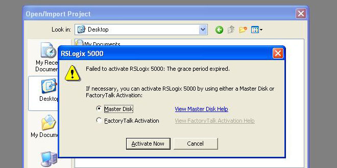 Why won't RSLogix 5000 v16 find my activation?