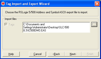 Tag Import and Export Wizard Step 4