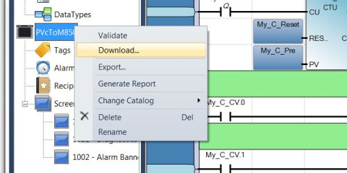 PanelView Component Download from Connected Component Workbench 6.01