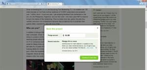 Kickstarter How to Pledge Step 3