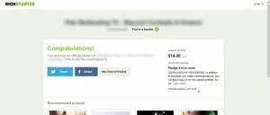 Kickstarter How to Pledge Step 7