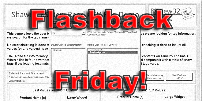 Flashback Friday! RSView32 Read CSV File Demo