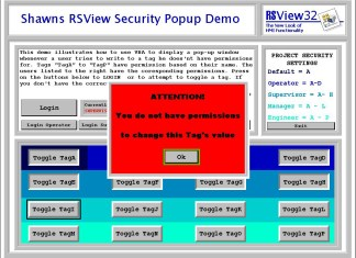 RSView32 Security Popup Demo