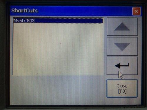 PanelView Plus Shortcuts