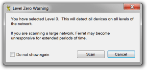 System-Ferret—Scan-Warning-1-Level-0