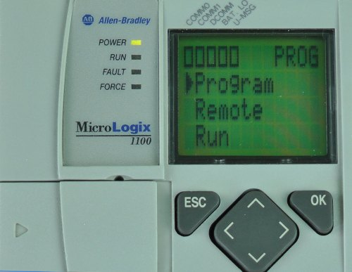 MicroLogix-1100-LCD-Mode-Switch-Menu-Program-Selected-in-Remote