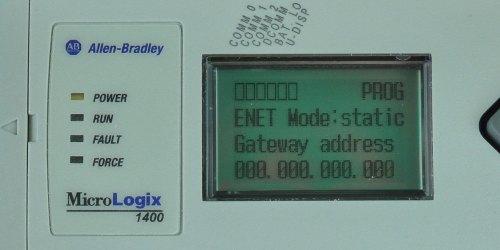 MicroLogix-1400-LCD-ENETcfg-Menu-IP-Static-GW-Entry-0