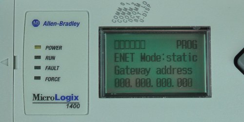 MicroLogix-1400-LCD-ENETcfg-Menu-IP-Static-GW-Entry-0