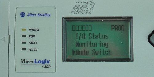 MicroLogix-1400-LCD-Main-Menu-Mode-Sel