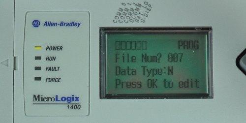 MicroLogix-1400-LCD-Monitor-Menu-7-Sel
