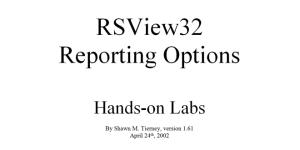 RSView32 Reporting Fi