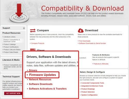 Download A-B PLC Firmware Step 3