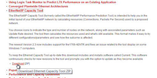 4 How to get the Ethernet IP Capacity Tool