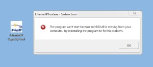 Ethernet IP Capacity Tool Error
