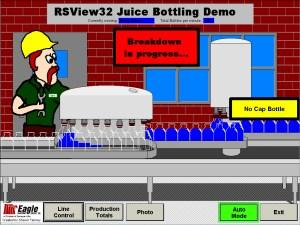 RSView32 Juice Bottling Demo 1