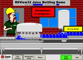 RSView32 Juice Bottling Demo 1