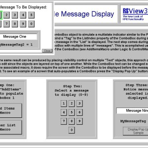 Shawn's RSView32 Simple Message Display