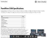 PanelView 5500 Tech Data Spec