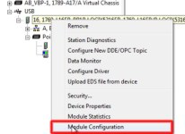 RSLinx to CompactLogix Change IP 10 Right-Click-Mod-Prop-L16H