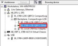 RSLinx to CompactLogix Change IP 4 Select-Eneth