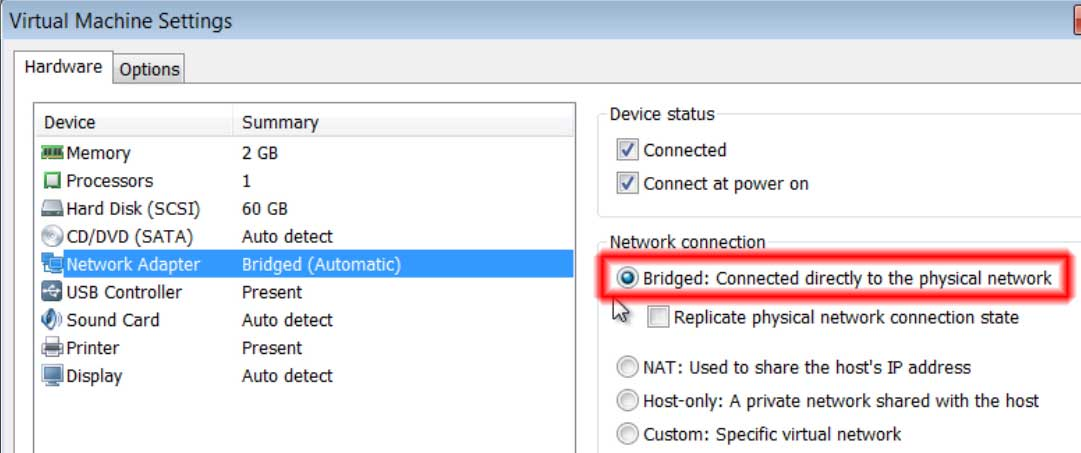 VMware Settings that work with RSLinx, ControlFlash, BOOTP