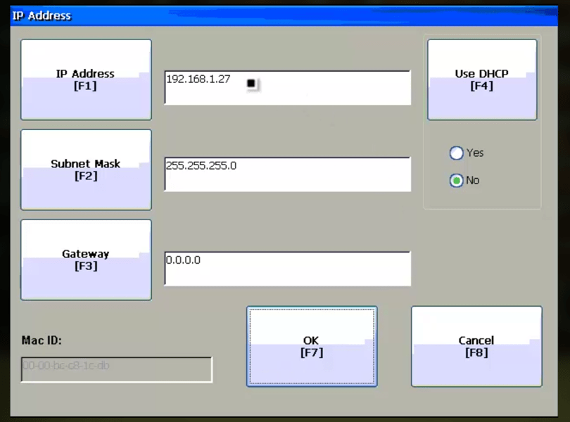 How do I set my PanelView Plus Ethernet Address? - The