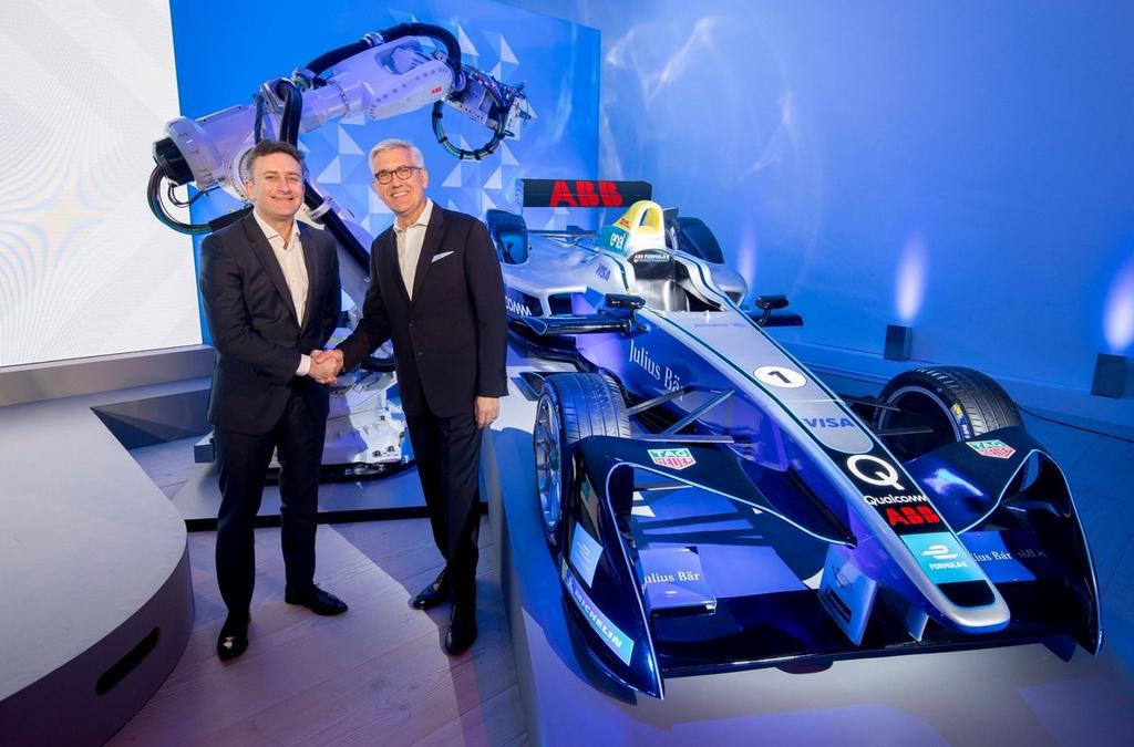 abb & formula-e accord signé à la saatchy gallery à londres le 09-012018