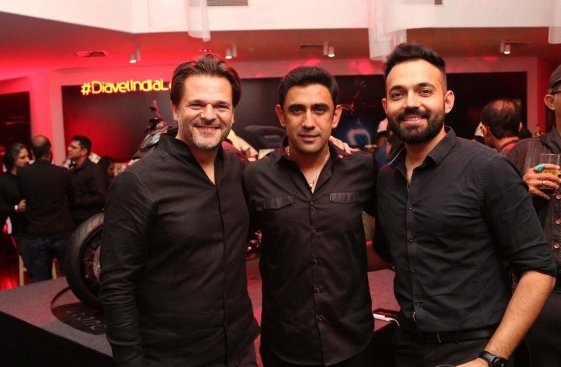 Sergi Canovas, MD Ducati India with Amit Sadh Bollywood Celebrity