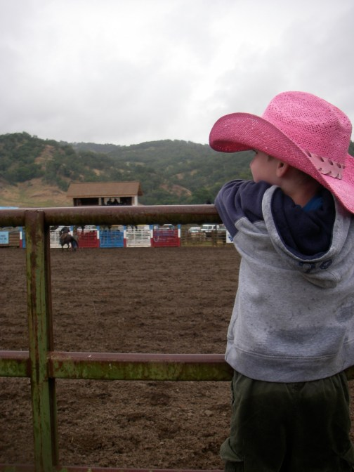 A boy, his hat and the rodeo.