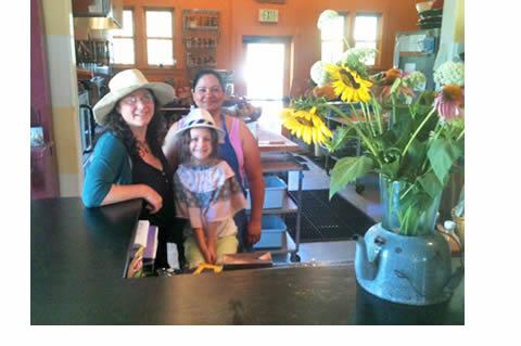 The author, daughter Bella & Maria Elena Mendoza.