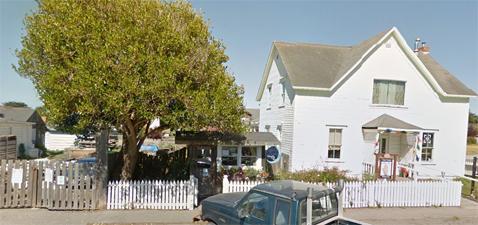 Eggers' Mendocino property is at 10550 Lansing Street, Mendocino (next door to Village Spirits liquor store)