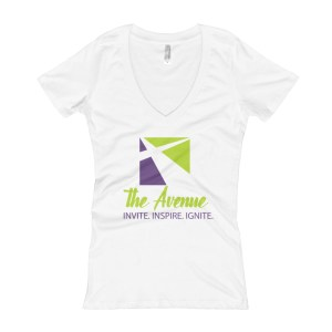 Women's V-Neck T-shirt (Color)
