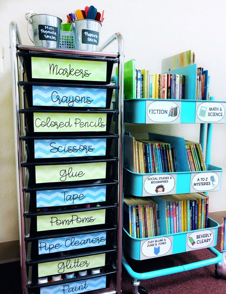 Teacher storage ideas