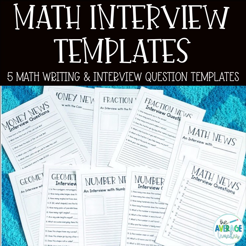 writing-in-math-interviews-tpt