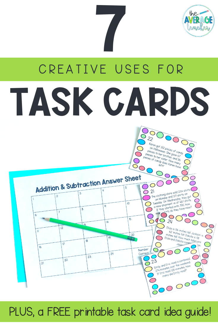 How to use task cards in the classroom
